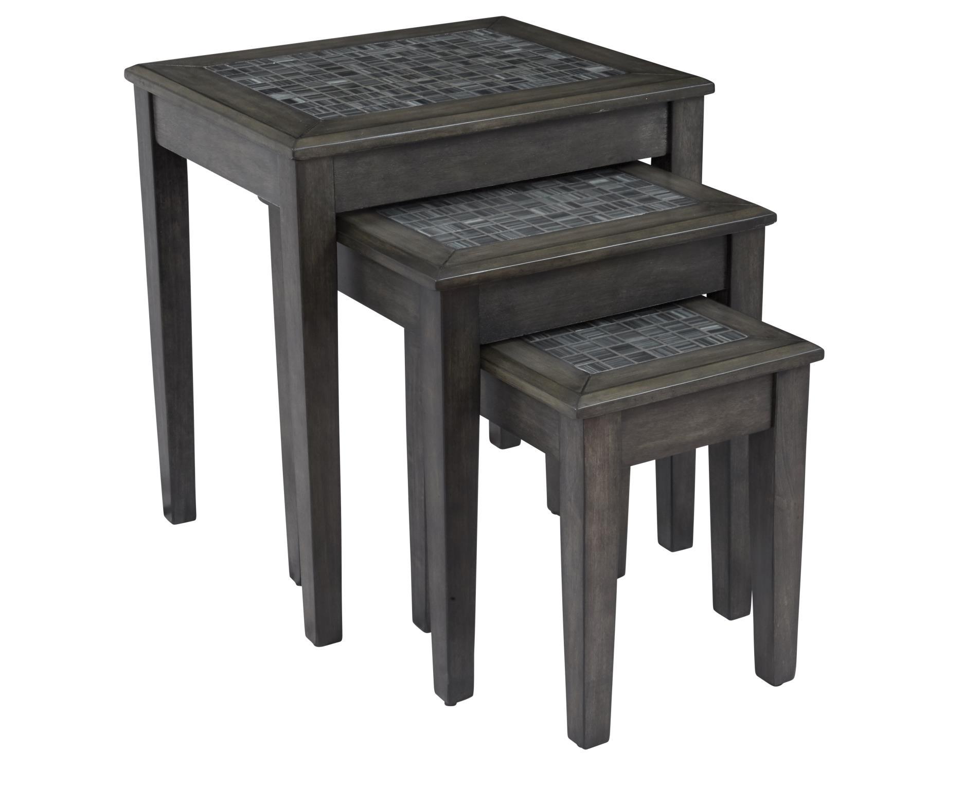 Grey Mosaic Nesting Tables Image